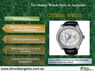 Citizen Mens watches at directbargains on best price in Aust