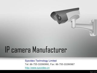 IP camera Manufacturer