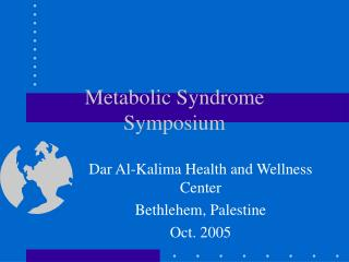 metabolic syndrome symposium