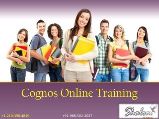 Cognos online training