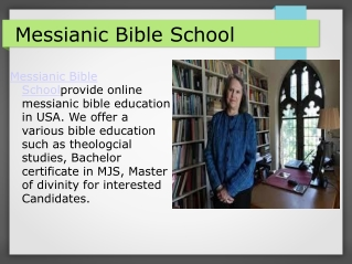 Messianic Bible School
