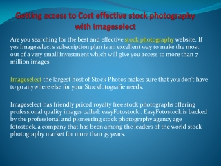 Getting access to Cost effective stock photography with Imag