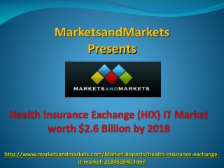 Health Insurance Exchange Market by 2018