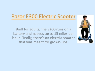 Razor Electric Scooter E200