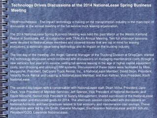 Technology Drives Discussions at the 2014 NationaLease