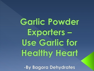 Garlic Powder Exporters