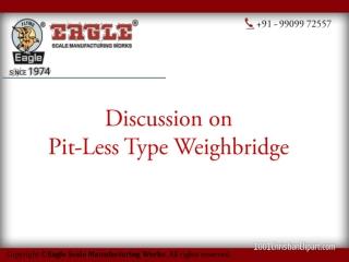 Pitless weighbridge manufacturer,