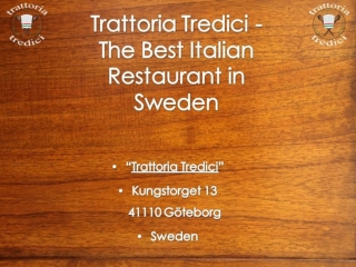 Best Italian Restaurants in Sweden