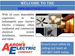 Electrical Contractor Indianapolis- Ceiling Fan Installation- Generator Installation