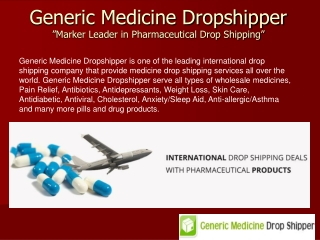 Select Pharmaceutical Drop Shipping Companies India