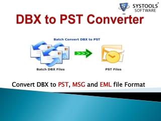 DBX to PST
