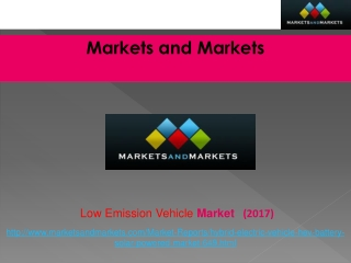 Low Emission Vehicle Market