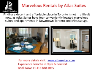 Short Term Rental Apartment in Toronto