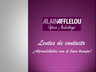 Lentillas Afflelou: consejos para el buen tiempo