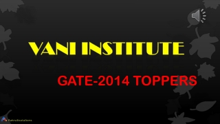 GATE 2014 toppers of Vani Institute