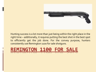Remington 1100 Tactical