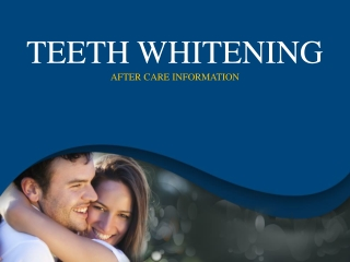 Tooth Whitening in Oklahoma City – After Care Consideration