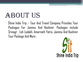 Best And Budget, Kashmir tour package complete details
