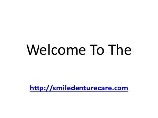 Repair dentures