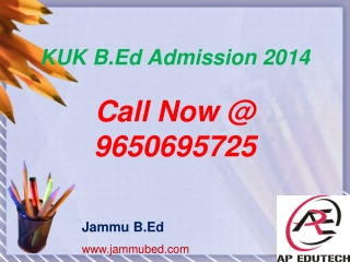 KUK B.Ed Admission 2014