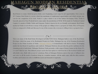Mahagun Moderne Noida price list and floor plan