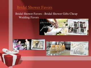 Discount wedding favors at bridal shower favors