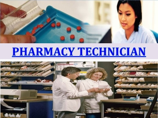 Pharmacy Technician Overview - What is a Pharmacy Technician