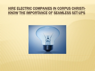 Electric Companies in Corpus Christi