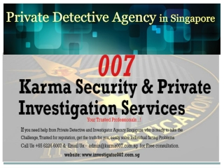 Private Detective Agency in Singapore