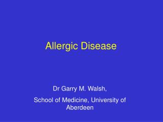 allergic disease