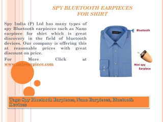 Spy Bluetooth Earpiece