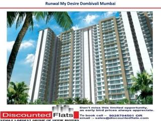 Runwal Mydesire Dombivali Mumbai by Runwal Group