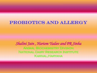 probiotics and allergy