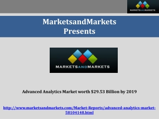 Advanced Analytics Market worth $29.53 Billion by 2019