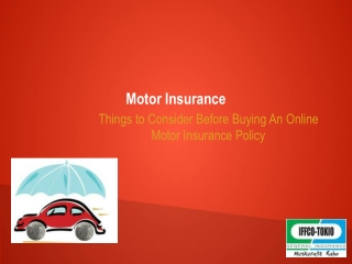 Best Online Motor Insurance Policy