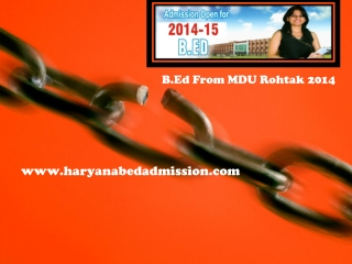 B.Ed from MDU Rohtak