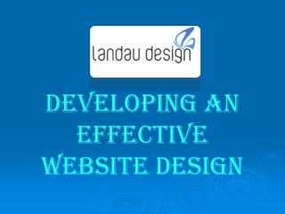 Developing An Effective Website Design