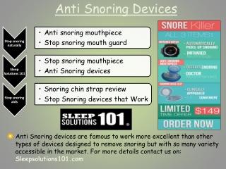 Stop snoring naturally