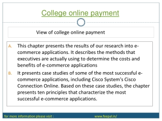 college online  Payment  Solutions with FeePal