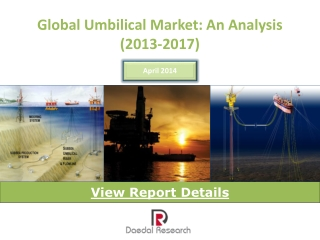 Global Umbilical Market: An Analysis (2013 – 2017)