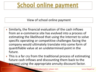 Payment and Registration for online payment for school