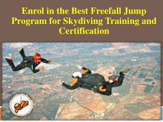 Best Freefall Jump Program for Skydiving Training