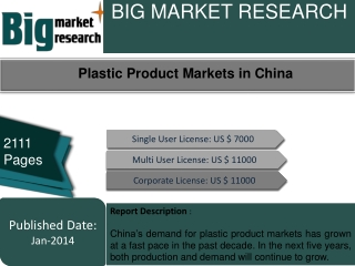 Plastic Product Markets in China
