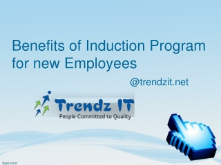 Benefits of Induction Program for New Employees