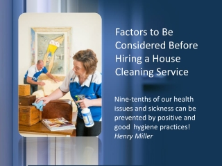 Finding the right cleaning service