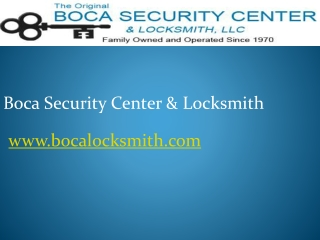 Boca Raton Emergency Locksmith