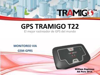 GPS Tramigo T22 monitoreo GPRS