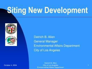 siting new development