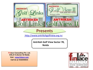 Antriksh Golf View Sector 78 Noida