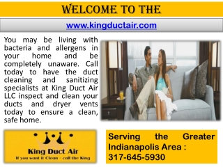 Indianapolis dryer vent cleaning - Air duct cleaning - HVAC cleaning